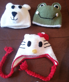 Caring Crafters animal hats