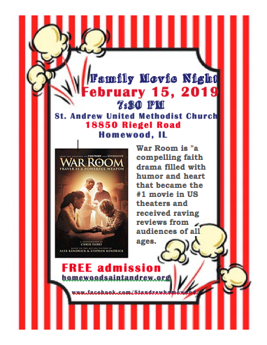 Family Movie Night February - Saint Andrew United Methodist